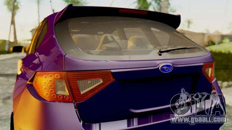 Subaru Impreza WRX STI 2008 for GTA San Andreas back left view