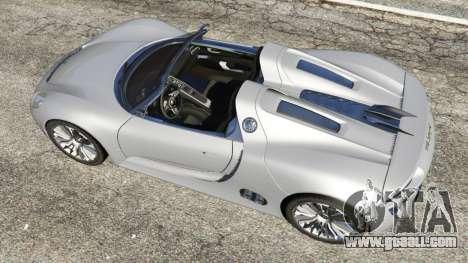 Porsche 918 Spyder for GTA 5