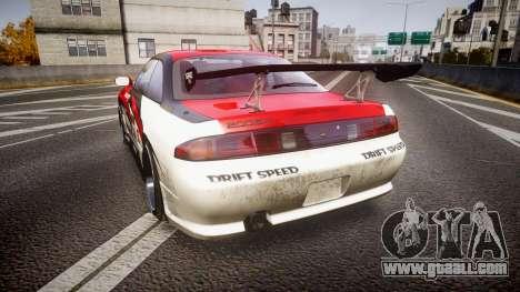 Nissan Silvia S14 Koni for GTA 4 back left view