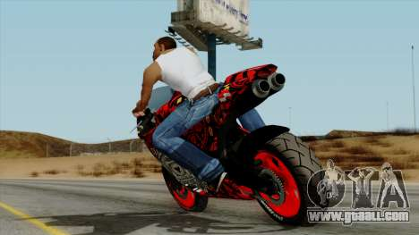 Bati Batik Motorcycle v2 for GTA San Andreas left view