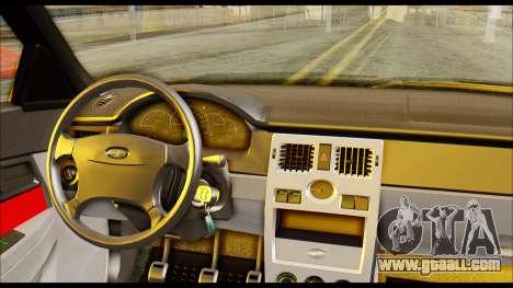 Lada Priora Porsche Customs for GTA San Andreas back left view