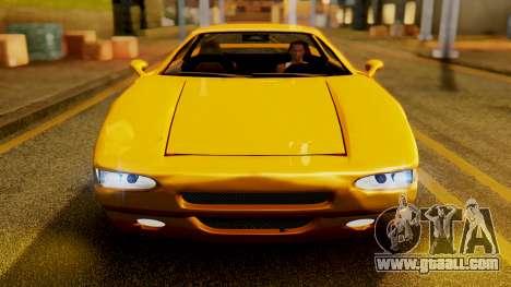 HD Infernus for GTA San Andreas back view
