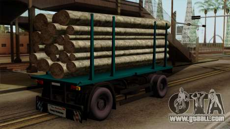 GTA 5 Fieldmaster Wood Trailer for GTA San Andreas left view