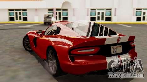 Dodge Viper SRT GTS 2013 HQLM (MQ PJ) for GTA San Andreas left view