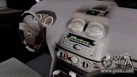 Chevrolet Aveo Taxi Poza Rica for GTA San Andreas right view