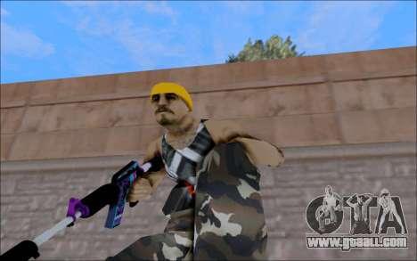 M4A1 Color for GTA San Andreas third screenshot