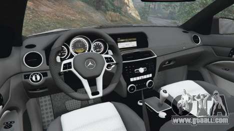 GTA 5 Mercedes-Benz C63 AMG 2012 steering wheel