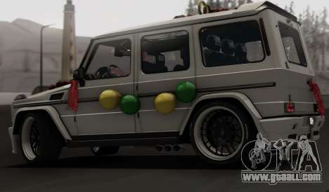 Mercedes Benz G65 Hamann Tuning Wedding Version for GTA San Andreas side view