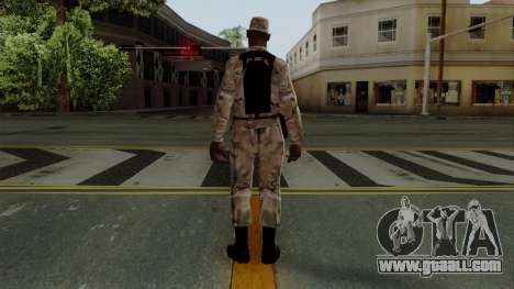 The African American soldier Multicam for GTA San Andreas third screenshot
