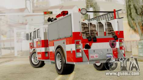 MTL SAFD Firetruck for GTA San Andreas left view