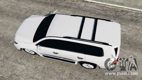 GTA 5 Lexus LX 570 2014 back view