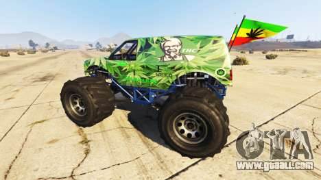 GTA 5 Vapid The Liberator Cannabis left side view