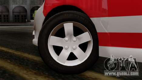 Chevrolet Aveo Taxi Poza Rica for GTA San Andreas back left view