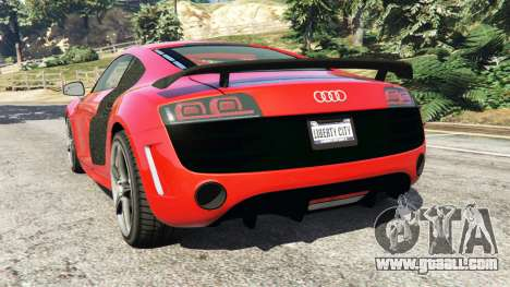 GTA 5 Audi R8 GT 2011 v0.5 [Beta] rear left side view