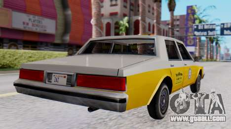Chevrolet Caprice 1980 SA Style Cab for GTA San Andreas left view