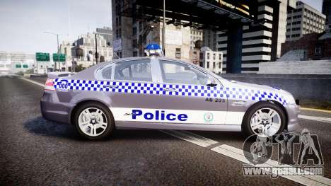 Holden VE Commodore SS Highway Patrol [ELS] for GTA 4 left view