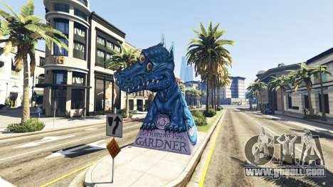 GTA 5 Statue Dragon Ilusion