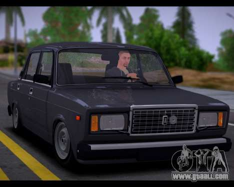 VAZ 2107 Runoff Quality for GTA San Andreas back view