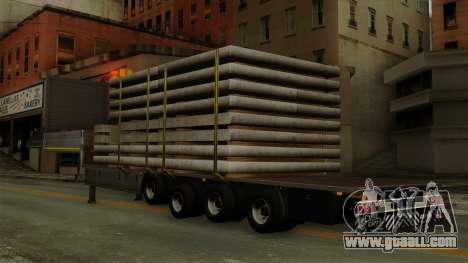 Flatbed3 Grey for GTA San Andreas left view