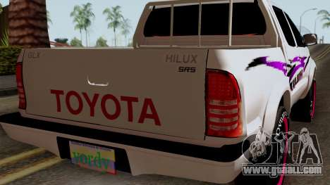 Toyota Hilux 2014 for GTA San Andreas back view