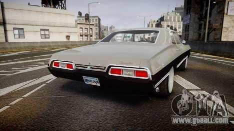 Chevrolet Impala 1967 Custom for GTA 4 back left view