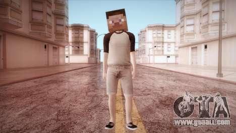 Minecraft Boy for GTA San Andreas second screenshot