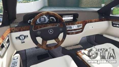 GTA 5 Mercedes-Benz S500 W221 v0.2 [Alpha] rear right side view