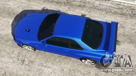 GTA 5 Nissan Skyline R34 GT-R v0.1 back view