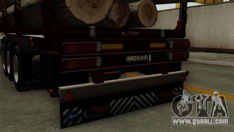 Trailer Fliegl v1 for GTA San Andreas back view