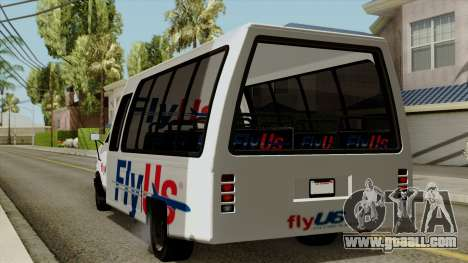Fly Us Airport Bus for GTA San Andreas left view