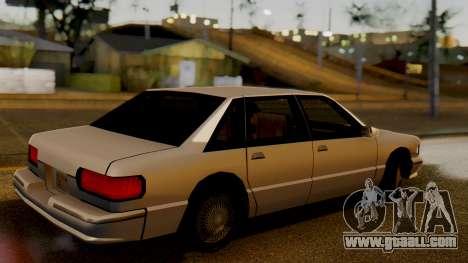 Declasse Premier for GTA San Andreas back left view