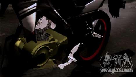 Yamaha Vixion Advance Lominous White for GTA San Andreas back view