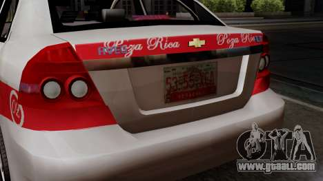 Chevrolet Aveo Taxi Poza Rica for GTA San Andreas back view