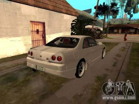 Nissan Skyline R33 Drift Monster Energy JDM for GTA San Andreas back view