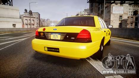 Ford Crown Victoria 2011 NYC Taxi for GTA 4 back left view