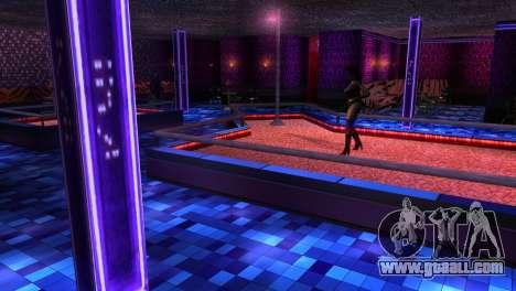 Retextured interior strip clubs for GTA San Andreas third screenshot