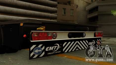 Flatbed3 Grey for GTA San Andreas right view