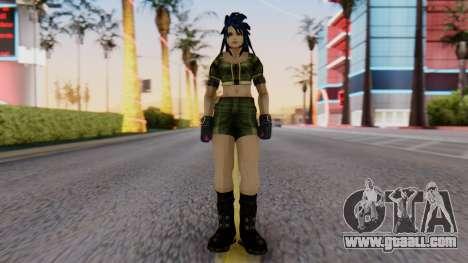 Leona from KoF Maxium Impact for GTA San Andreas second screenshot