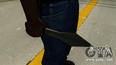 Throwing knife for GTA San Andreas second screenshot