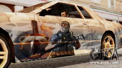 Elegy Contract Wars Vinyl for GTA San Andreas back left view