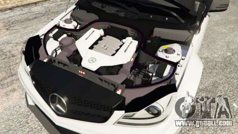 GTA 5 Mercedes-Benz C63 AMG 2012 right side view