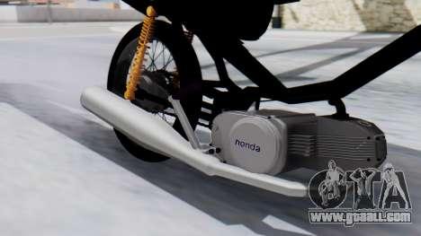 Honda Wave Stunt for GTA San Andreas back left view