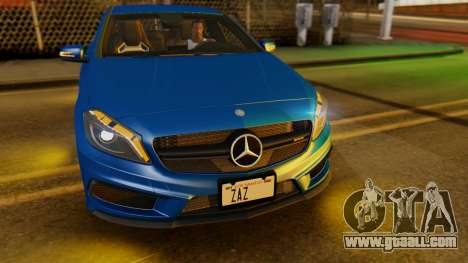 Mercedes-Benz A45 AMG 2012 PJ for GTA San Andreas inner view