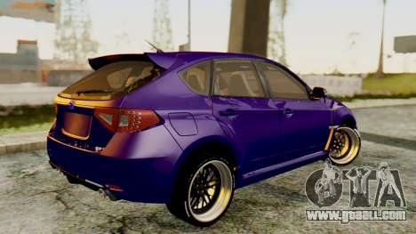 Subaru Impreza WRX STI 2008 for GTA San Andreas left view
