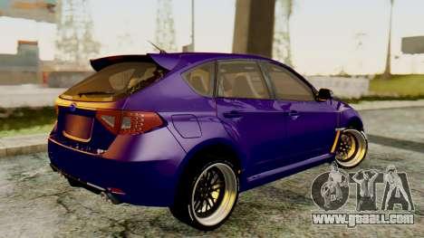 Subaru Impreza WRX STI 2008 for GTA San Andreas left view
