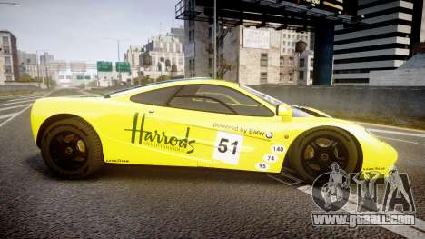 McLaren F1 1993 [EPM] Harrods for GTA 4 left view