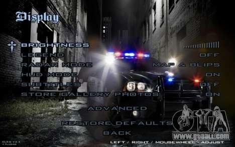 Night Menu for GTA San Andreas fifth screenshot