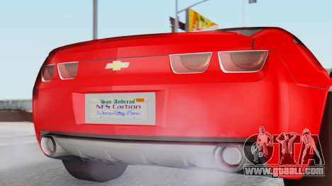 NFS Carbon Chevrolet Camaro for GTA San Andreas back view