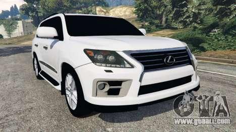 Lexus LX 570 2014 for GTA 5