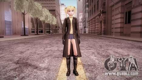 Leather Coat Short Skirt Ani for GTA San Andreas second screenshot
